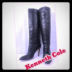 Kenneth Cole Leather Heel Boots